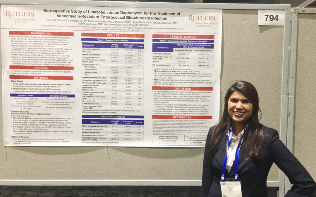 EMSOP students' research accepted to IDWeek